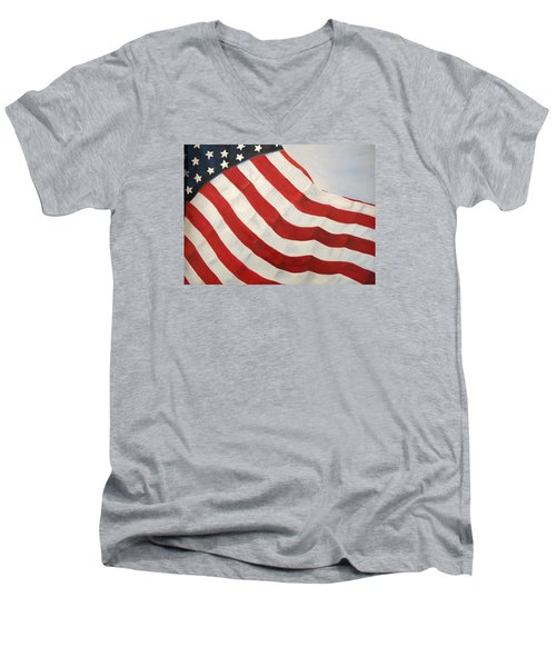 A Little Glory Men's V-Neck T-Shirt by Carol Sweetwood