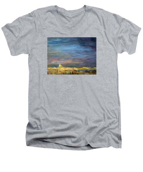 A Little Moon Magic Men's V-Neck T-Shirt by Michael Helfen