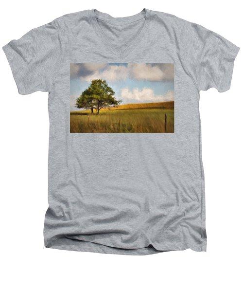 A Little Shade Men's V-Neck T-Shirt by Lana Trussell