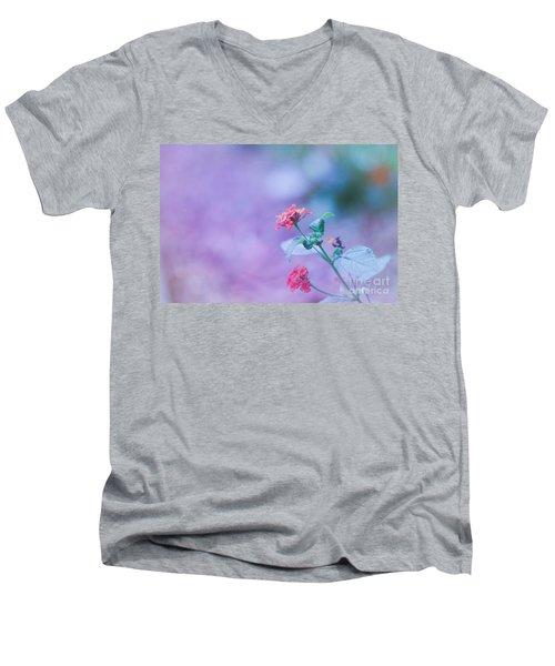 A Little Softness, A Little Color - Macro Flowers Men's V-Neck T-Shirt