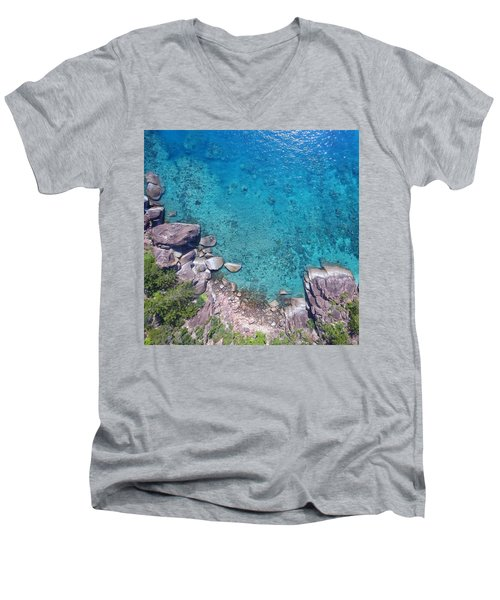 A Little Square Of Paradise  Men's V-Neck T-Shirt
