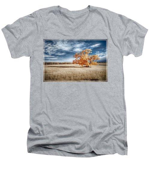 A Lone Tree Men's V-Neck T-Shirt