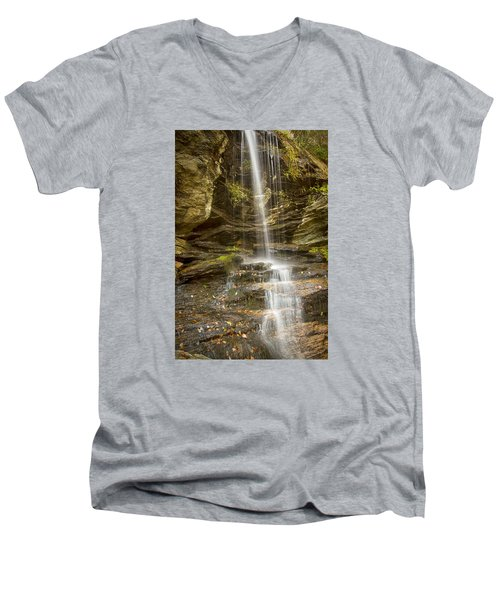 Men's V-Neck T-Shirt featuring the photograph A Look At Window Falls by Bob Decker