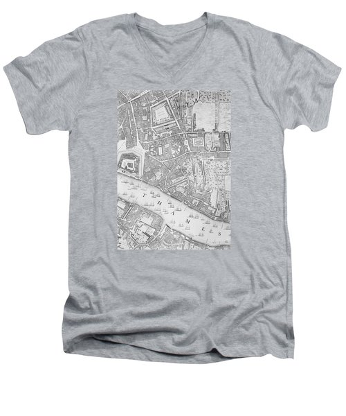 A Map Of The Tower Of London Men's V-Neck T-Shirt
