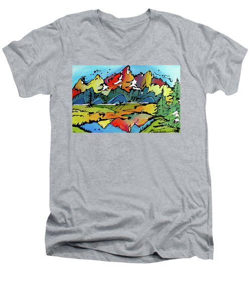 A Memory Men's V-Neck T-Shirt by Nicole Gaitan