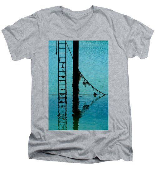 Men's V-Neck T-Shirt featuring the photograph A Modicum Of Maritime Minimalism by Chris Lord