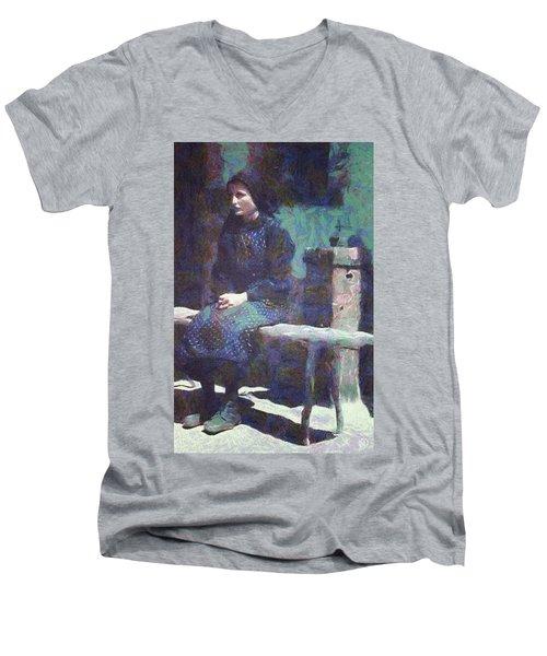A Moment Of Meditation Men's V-Neck T-Shirt by Gun Legler