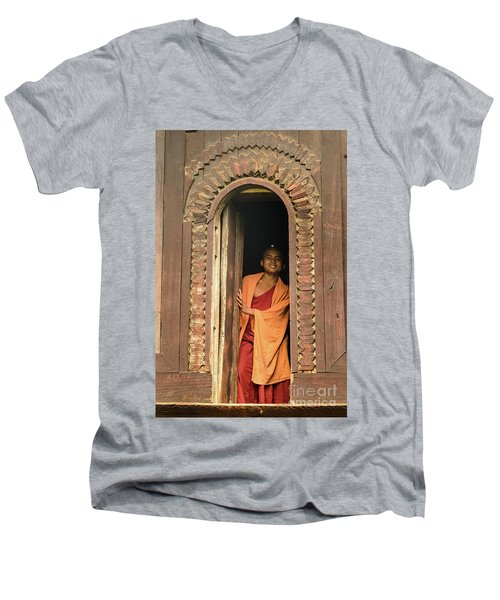 A Monk 4 Men's V-Neck T-Shirt