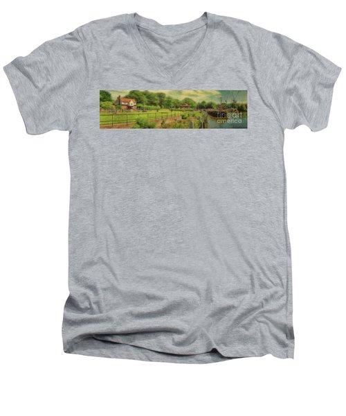 A Morning At Teddington Lock Men's V-Neck T-Shirt