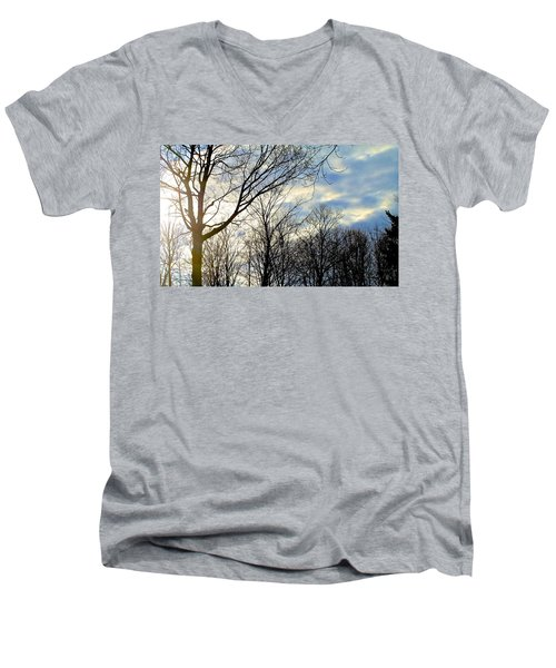 A Morning Sun Men's V-Neck T-Shirt