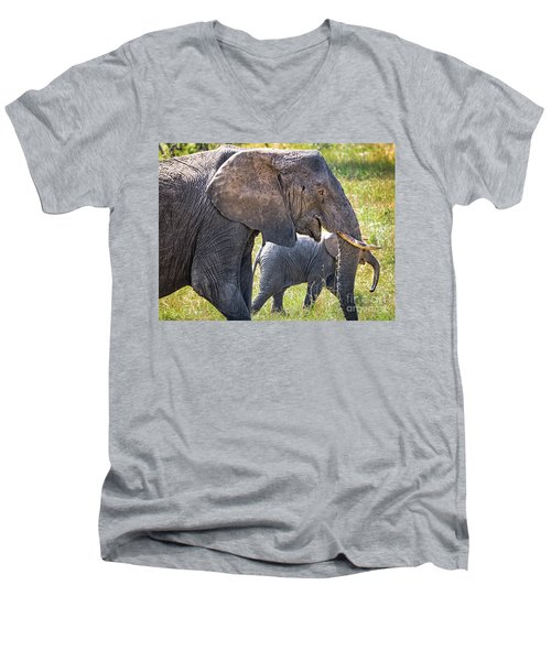 A Mother's Love Men's V-Neck T-Shirt