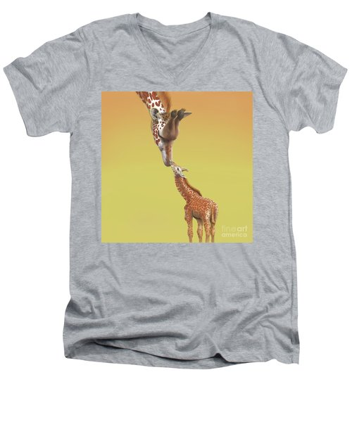 A Mother's Love Men's V-Neck T-Shirt by Thomas J Herring