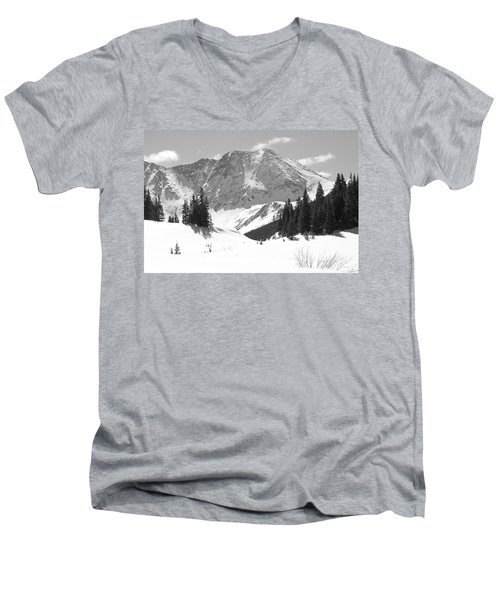 Men's V-Neck T-Shirt featuring the photograph A Mountain Is A Buddha by Eric Glaser