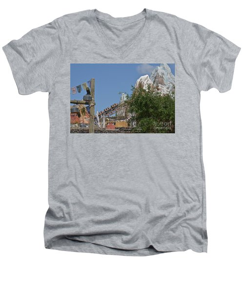 A Mountain Of Fun Men's V-Neck T-Shirt by Carol  Bradley