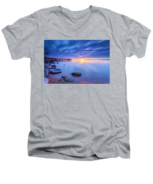 A New Dawn Men's V-Neck T-Shirt by Edward Kreis