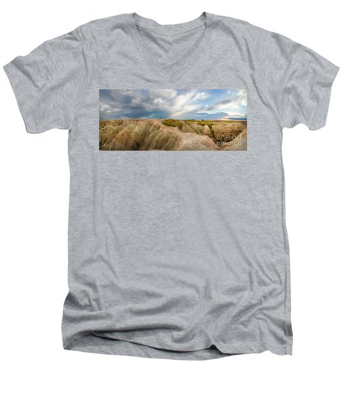 A New Day Panorama Men's V-Neck T-Shirt