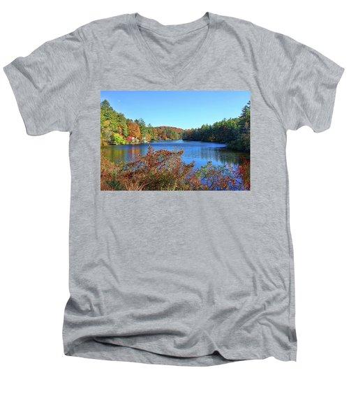 A North Carolina Autumn Men's V-Neck T-Shirt