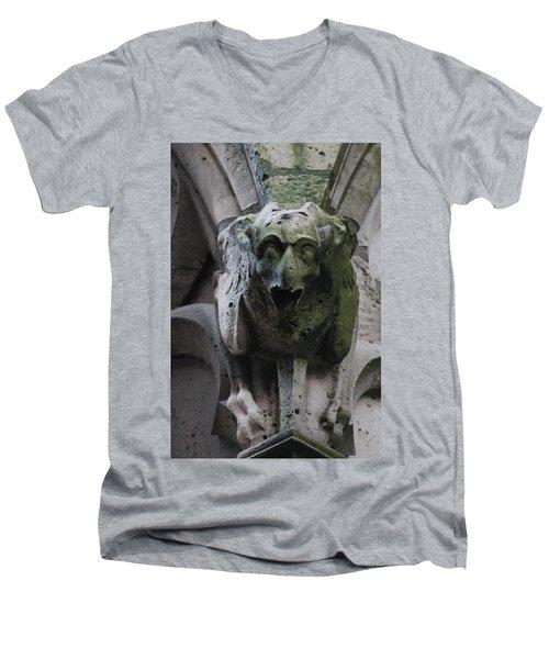 A Notre Dame Griffon Men's V-Neck T-Shirt