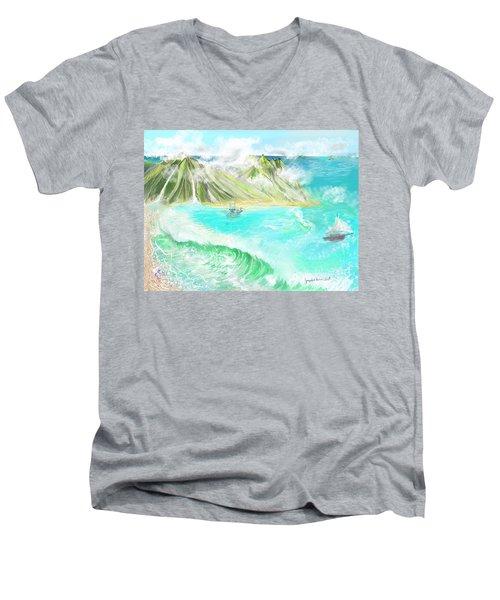A Ocean Some Where Men's V-Neck T-Shirt