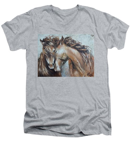 A Painting About Love  Men's V-Neck T-Shirt