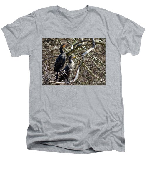 A Pair Of Cormorants Men's V-Neck T-Shirt