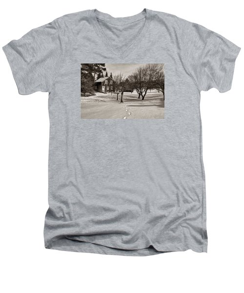 A Path To Home Men's V-Neck T-Shirt by Janice Adomeit