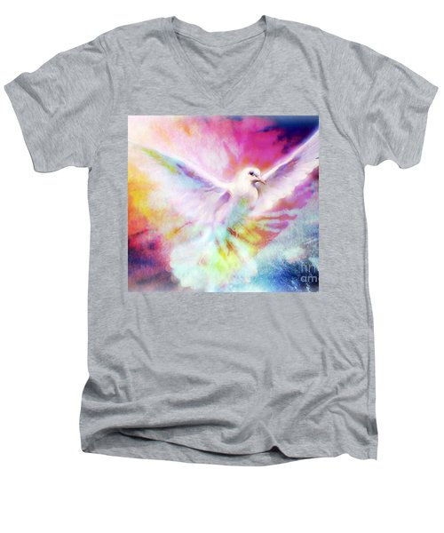 A Peace Dove Men's V-Neck T-Shirt
