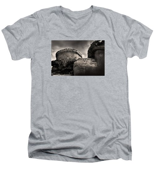 A Peak At The Tower Pictorial Men's V-Neck T-Shirt