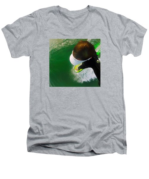 A Pelican's View Men's V-Neck T-Shirt by William Love
