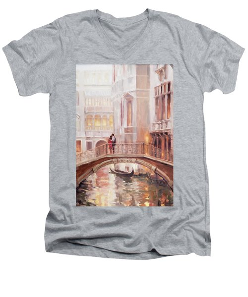 A Perfect Afternoon In Venice Men's V-Neck T-Shirt