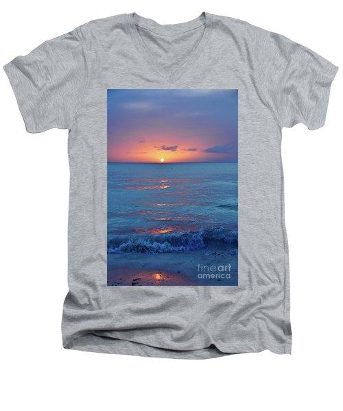 A Perfect Finish Men's V-Neck T-Shirt by Valerie Rosen