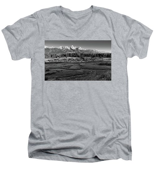 A Perfect Frosty Morning In Grey Scale Men's V-Neck T-Shirt