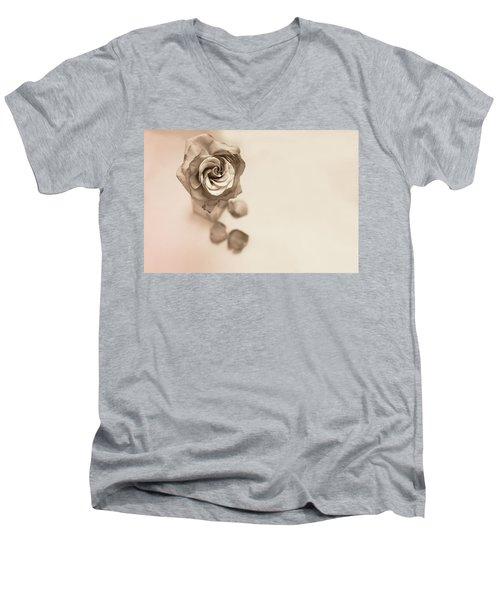 A Petal Falls Men's V-Neck T-Shirt