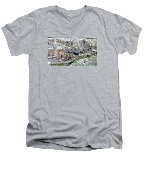 A Piece Of Earth From Hills Of Northeast India Men's V-Neck T-Shirt