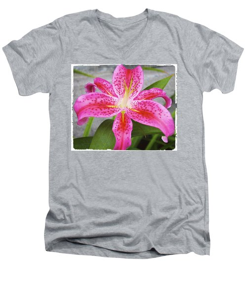 A Pink So Vivid I Can Almost Taste It Men's V-Neck T-Shirt