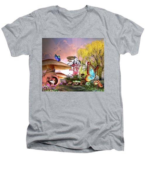 A Pixie Garden Men's V-Neck T-Shirt
