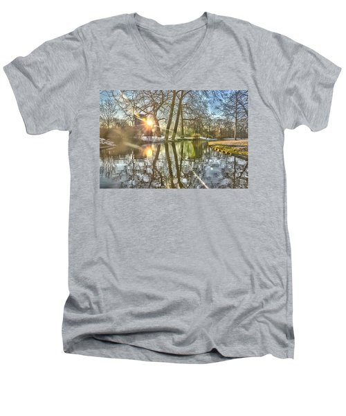 A Pond In Rotterdam Men's V-Neck T-Shirt