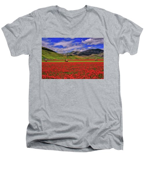 A Poppyy Dream Men's V-Neck T-Shirt