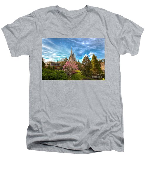 A Quiet Countryside Men's V-Neck T-Shirt