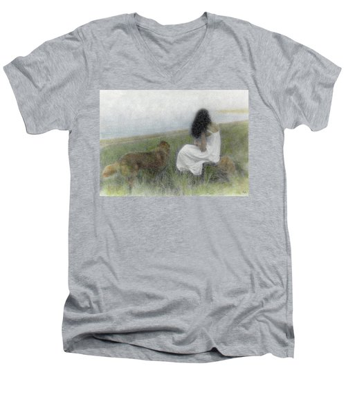 A Quiet Moment On The Vineyard Men's V-Neck T-Shirt