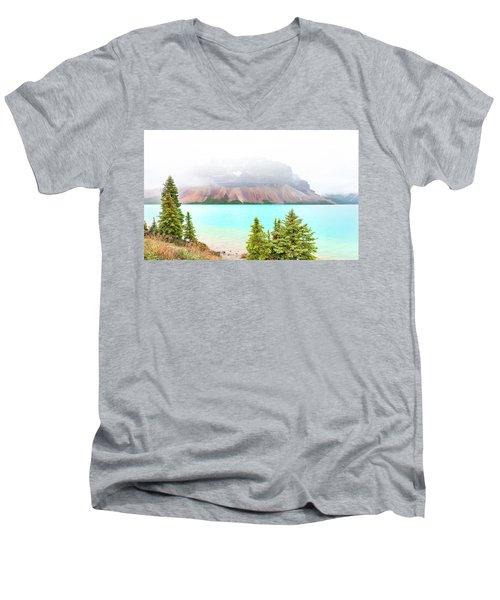 Men's V-Neck T-Shirt featuring the photograph A Quiet Place by John Poon