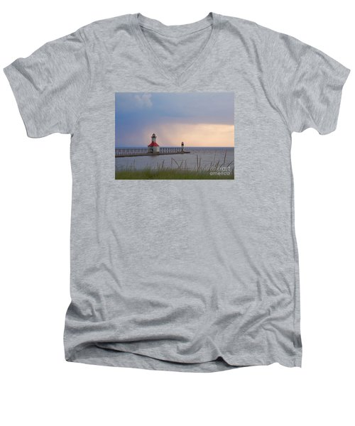 A Quiet Wonder Men's V-Neck T-Shirt by Ann Horn