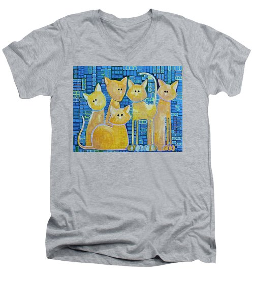 A Quorum Of Cats Men's V-Neck T-Shirt