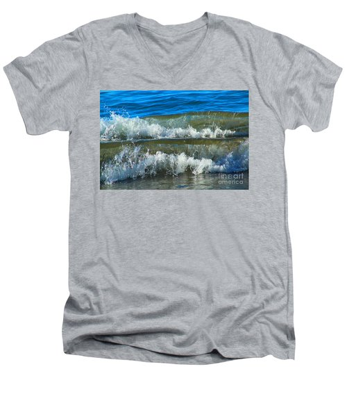 A Race For Non-existence, Point Reyes National Seashore, Marin C Men's V-Neck T-Shirt by Wernher Krutein
