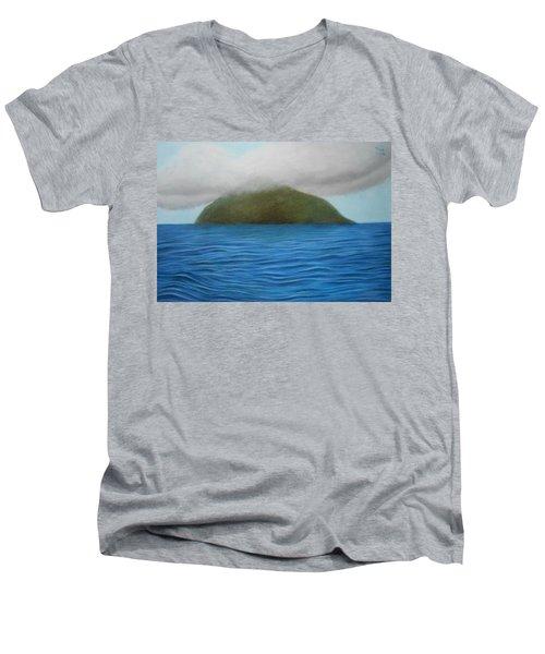 Hope- The Island  Men's V-Neck T-Shirt by Vishvesh Tadsare