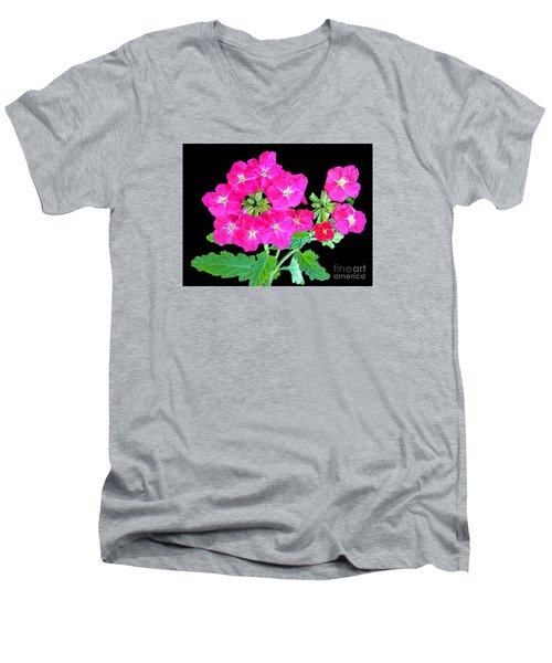 Men's V-Neck T-Shirt featuring the photograph A Ring Of Verbena by Merton Allen