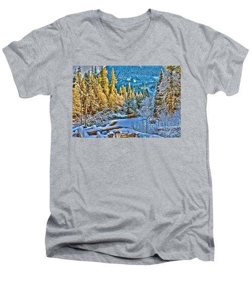 A River Runs Down It Men's V-Neck T-Shirt