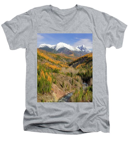 A River Runs Through It Men's V-Neck T-Shirt by Jack Bell