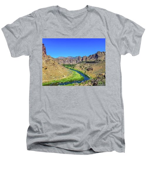 A River Runs Through Men's V-Neck T-Shirt