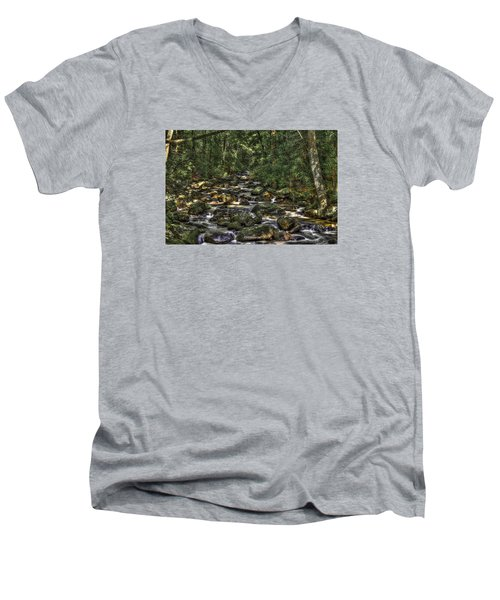 A River Through The Woods Men's V-Neck T-Shirt
